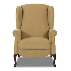 Klaussner High Leg Recliners Mahogany High Leg Recliner