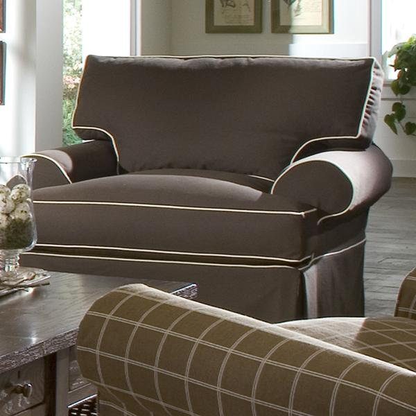 Lahoya Chair with Blend Down Cushions by Klaussner at Northeast Factory Direct