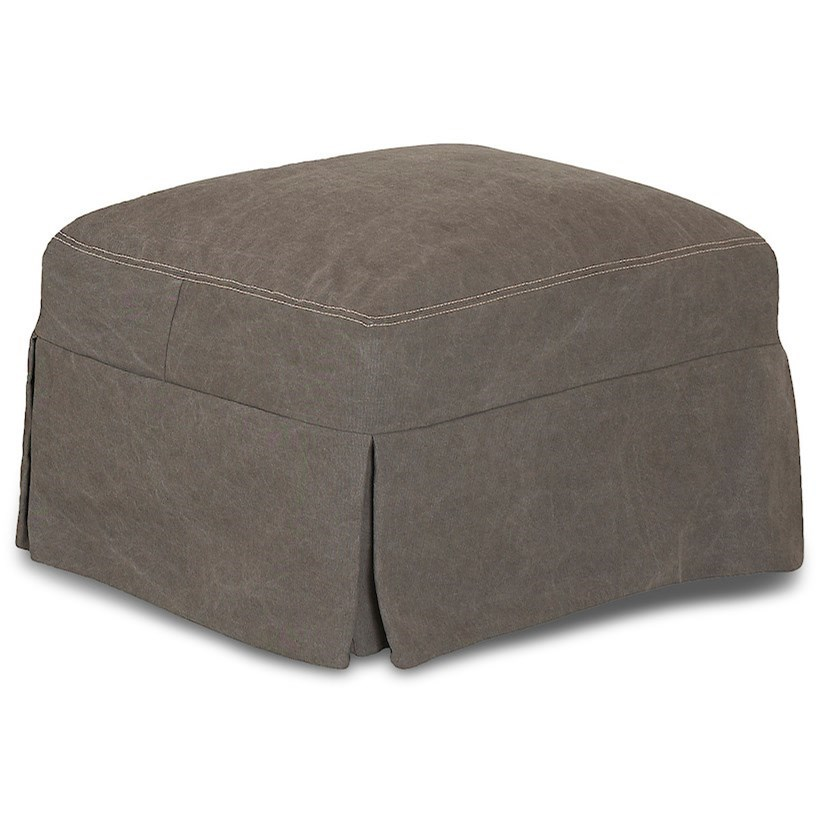 Lahoya Ottoman w/ Slipcover by Klaussner at Johnny Janosik
