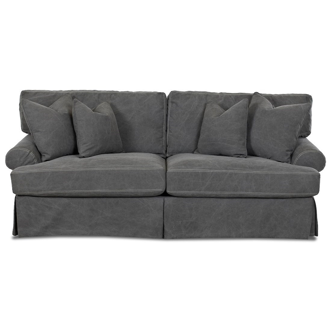 Lahoya Slipcover Dreamquest Sleeper Sofa by Klaussner at Rooms for Less