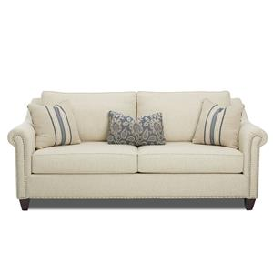 Sofa with Nailhead Trim and Toss Pillows