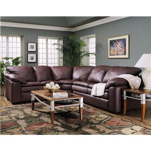 Klaussner Legacy Reclining Loveseat and Sleeper Sectional