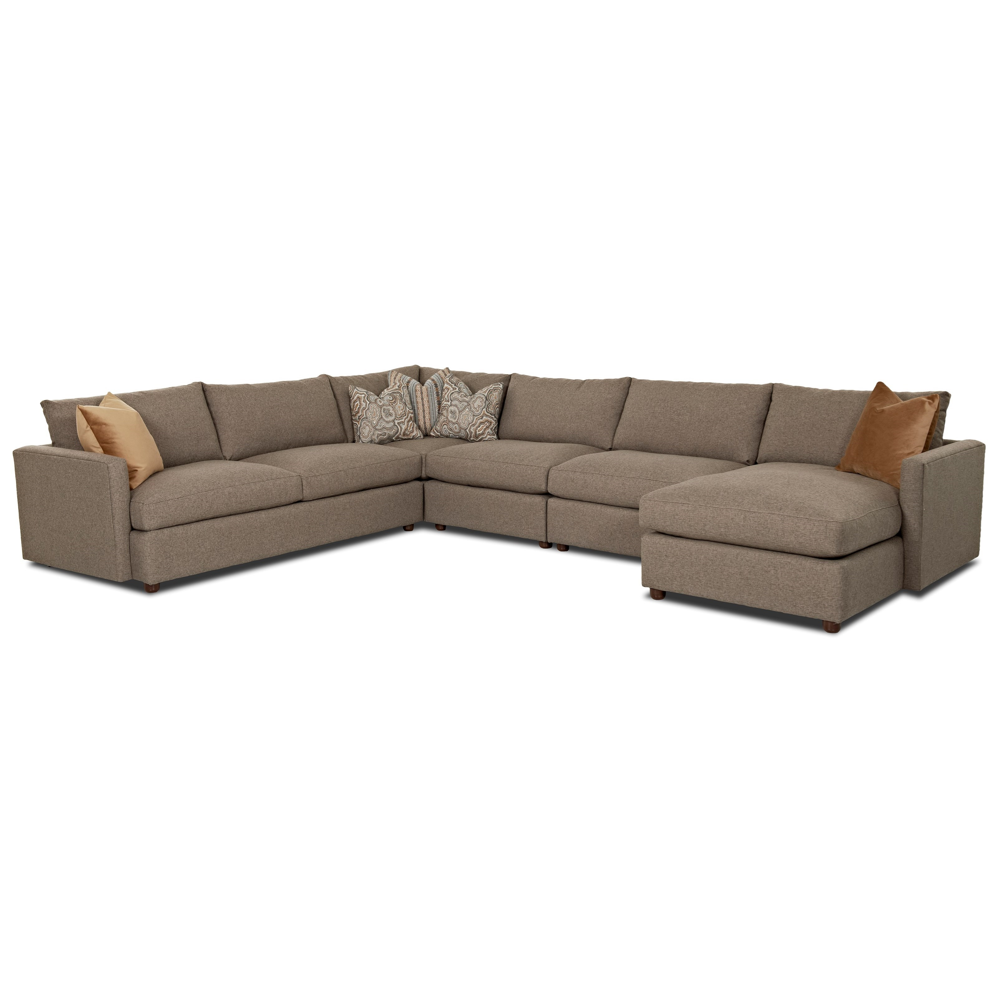 Leisure Sectional Sofa by Klaussner at Johnny Janosik