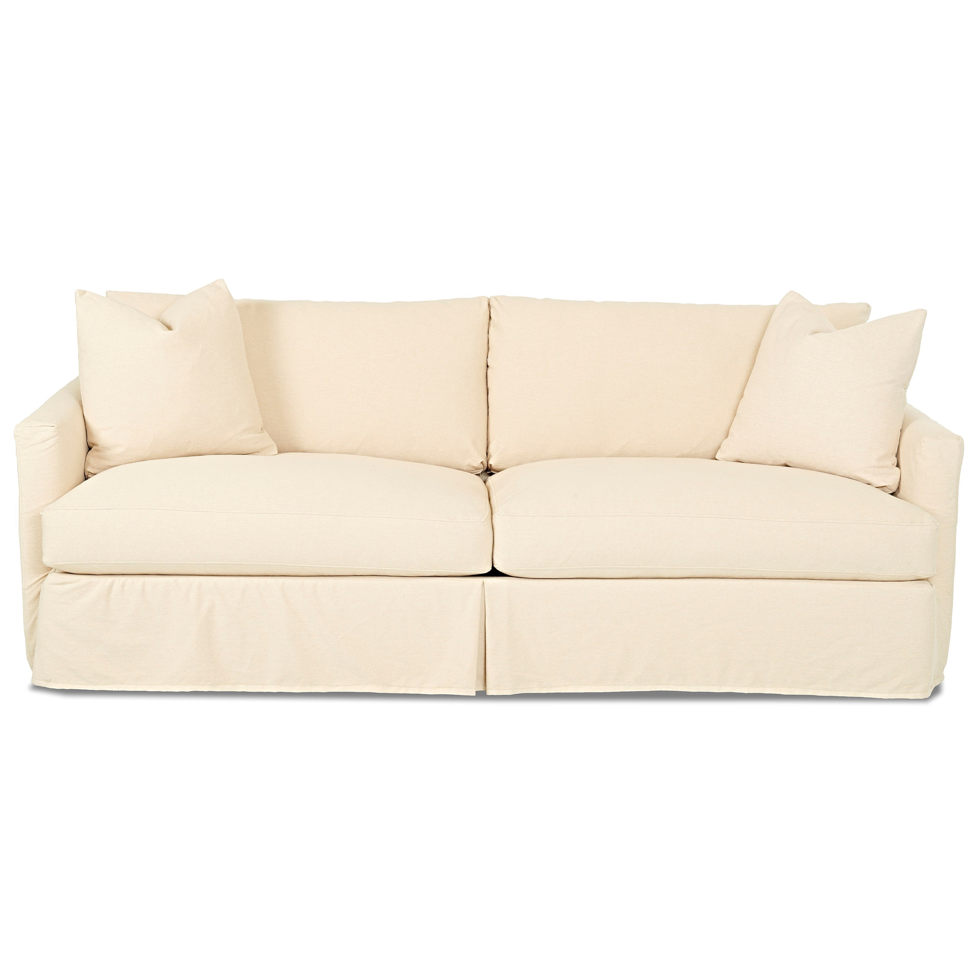 Leisure Extra Large Sofa with Slipcover by Klaussner at Catalog Outlet