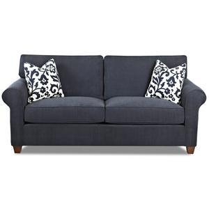 Transitional Regular Sleeper Sofa with Innerspring Mattress