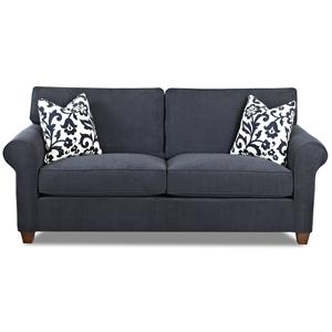 Transitional Stationary Sofa with Welt