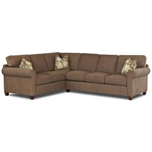 Transitional 2 Piece Sectional Sofa with Welt