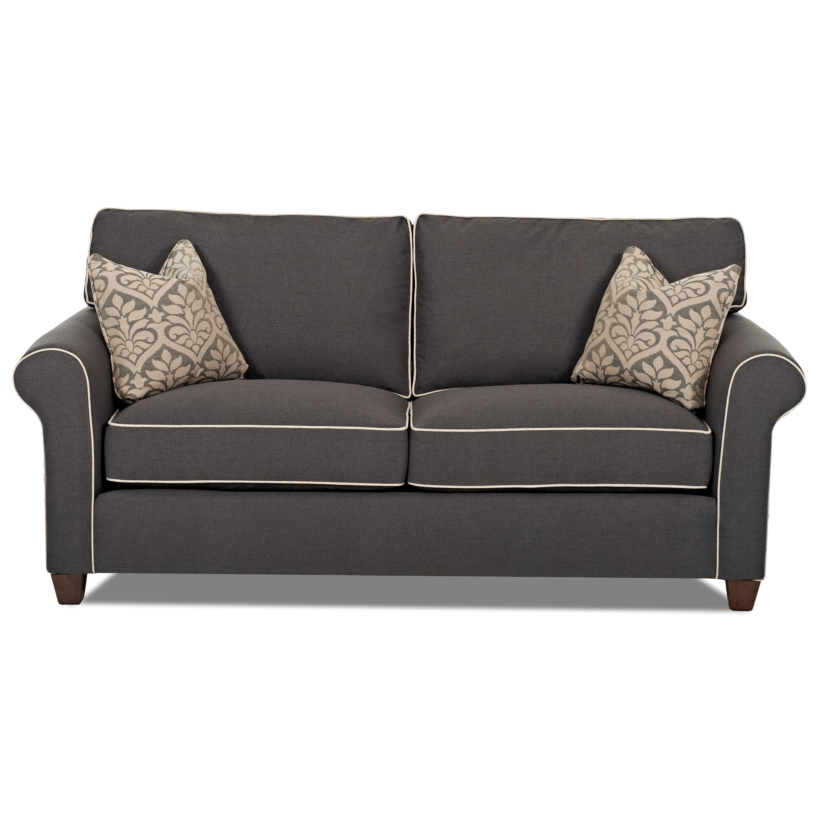 Lillington 84 Inch Sofa with Contrast Welts by Klaussner at Johnny Janosik