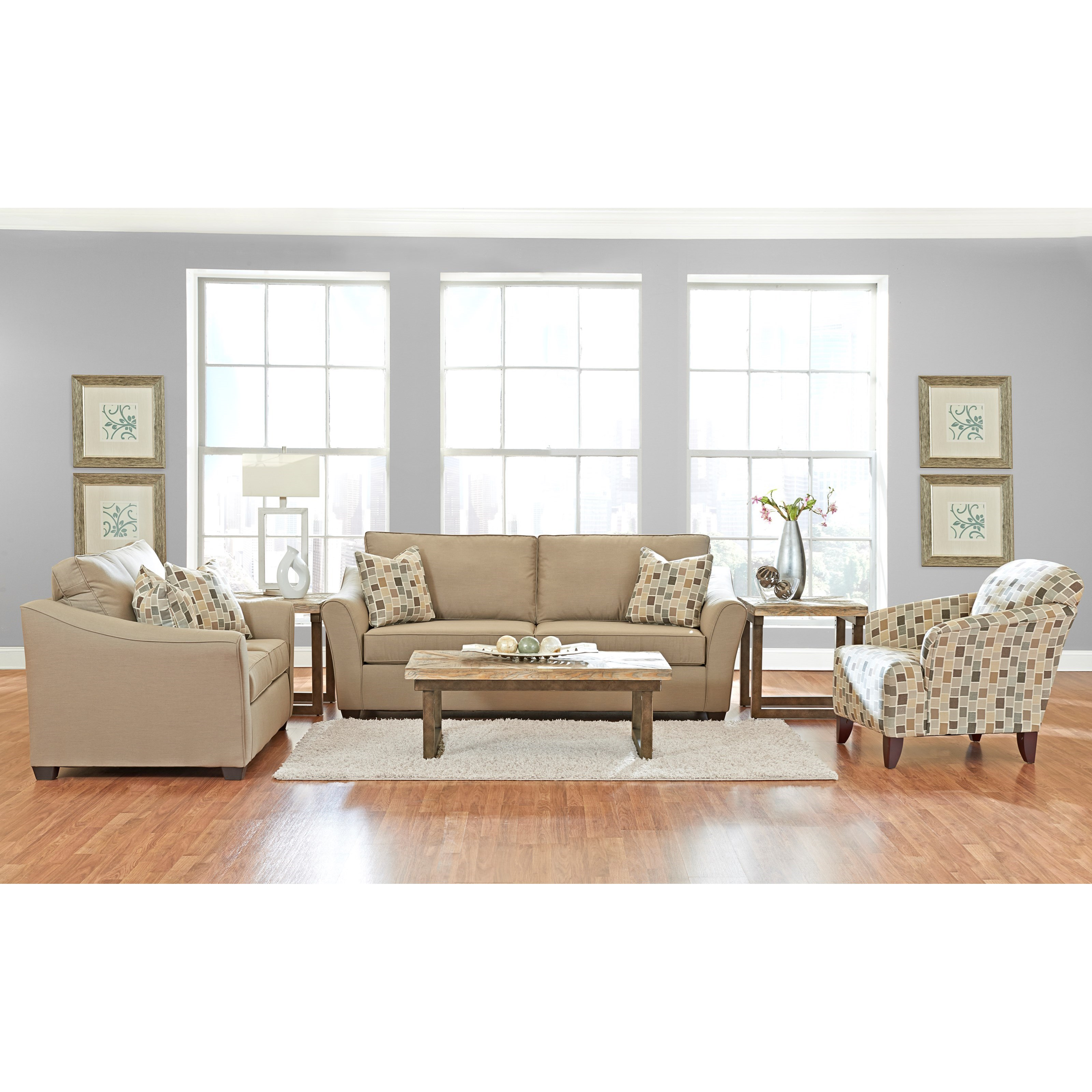 Linville Living Room Group by Klaussner at Johnny Janosik