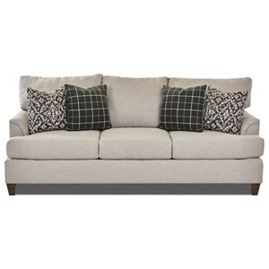 Transitional Customizable Sofa with Flared Arms