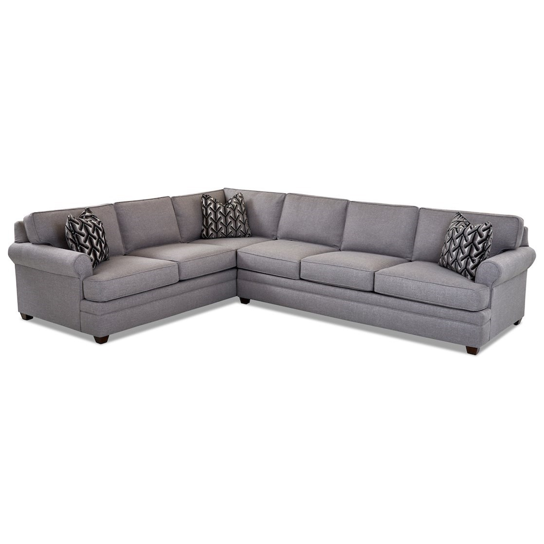 Living Your Way 2-Piece Sectional Sofa w/ RAF Sofa by Klaussner at Northeast Factory Direct
