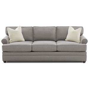 Casual Rolled Arm Sofa Sleeper with Enso Memory Foam Mattress