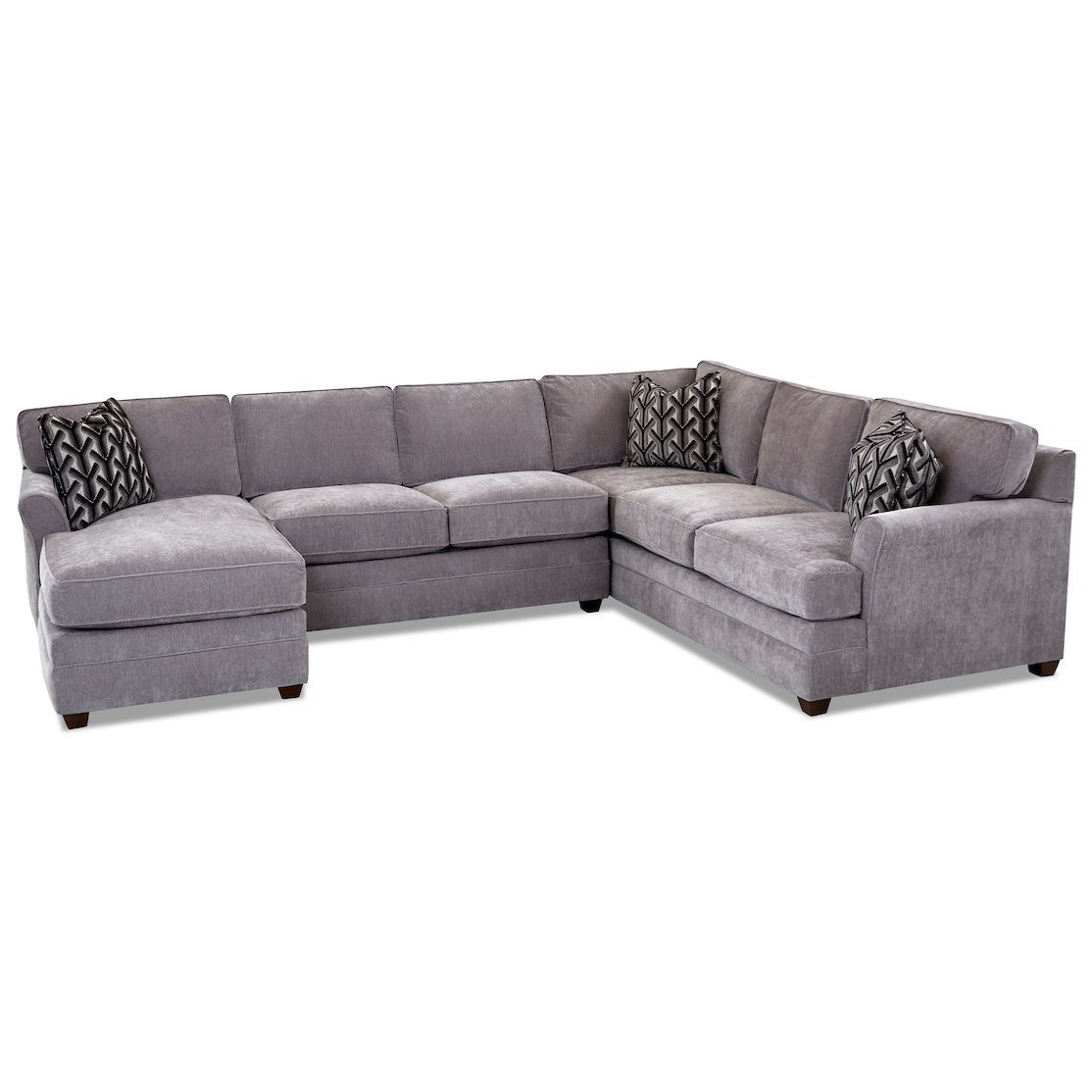 Living Your Way 3-Piece Sectional Sofa w/ LAF Chaise by Klaussner at Johnny Janosik