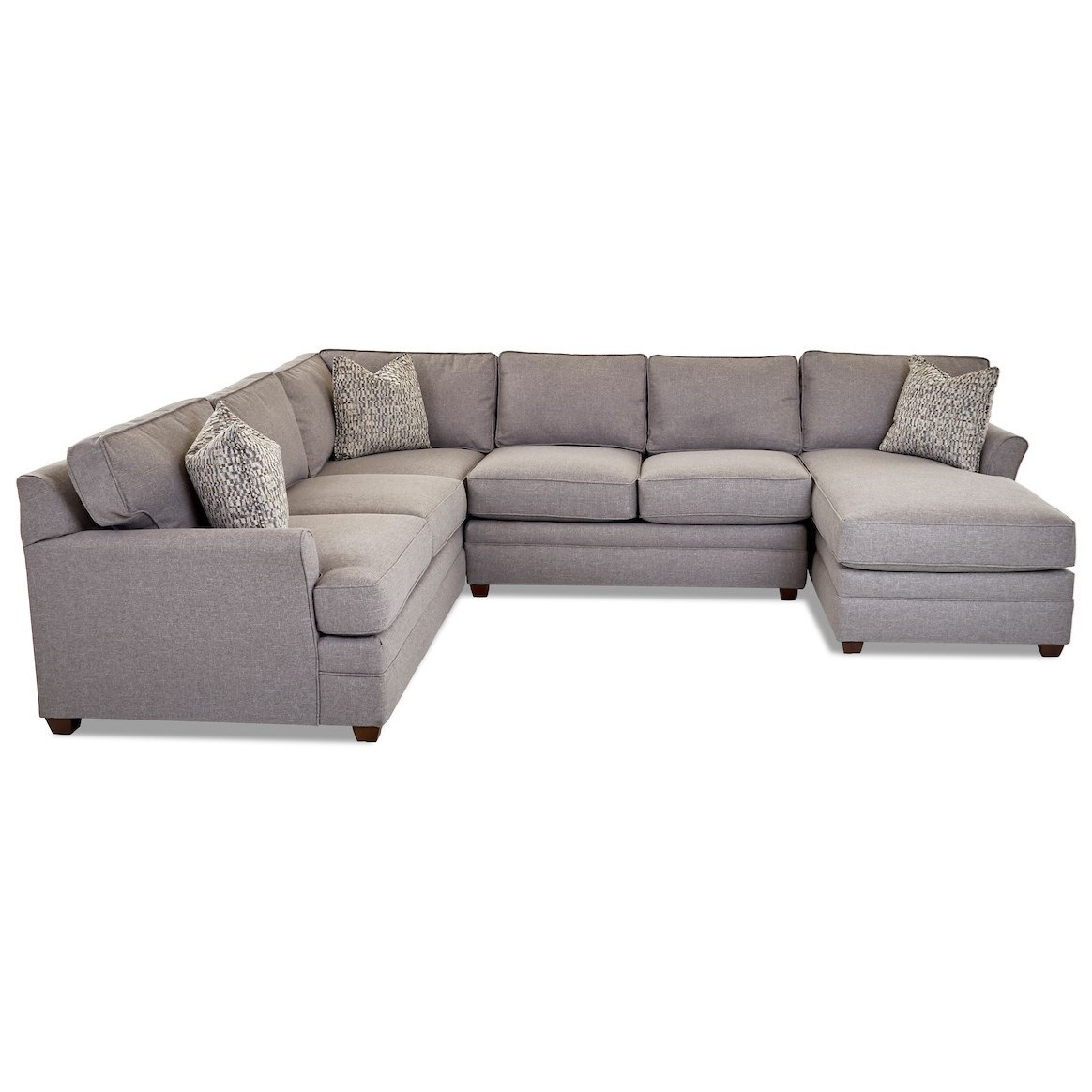 Living Your Way 3-Piece Sectional Sofa w/ RAF Chaise by Klaussner at Van Hill Furniture