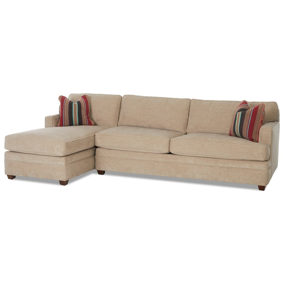 Living Your Way 2-Piece Sectional w/ RAF Dreamquest Sleeper by Klaussner at Johnny Janosik