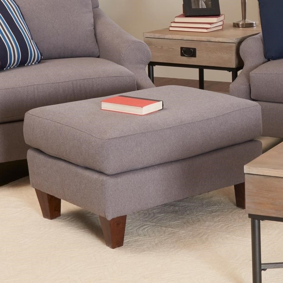 Lyndon Ottoman by Klaussner at Lapeer Furniture & Mattress Center