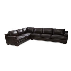 2-Piece Leather Sectional