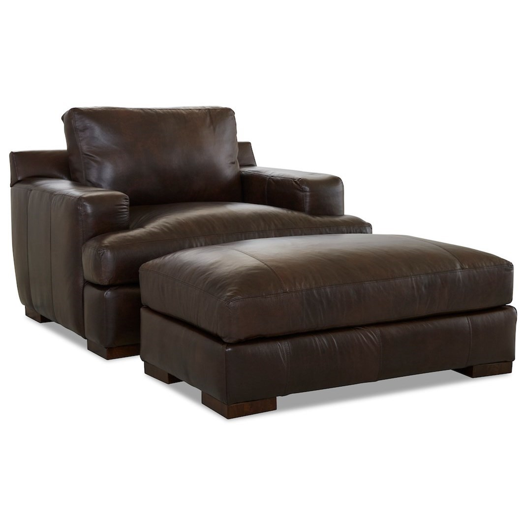 Lyon Chair & Ottoman Set by Klaussner at Johnny Janosik
