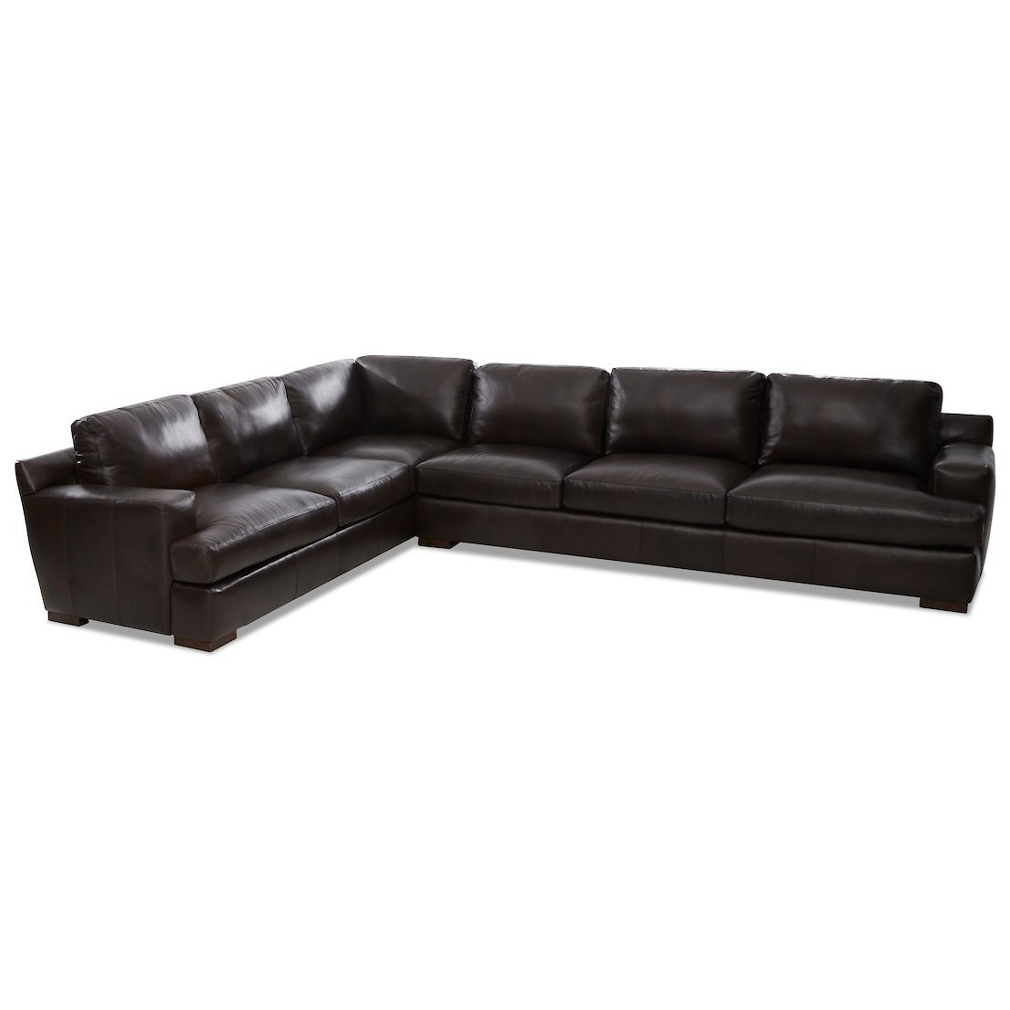 Lyon 5-Seat Sectional Sofa w/ RAF Sofa by Klaussner at Northeast Factory Direct