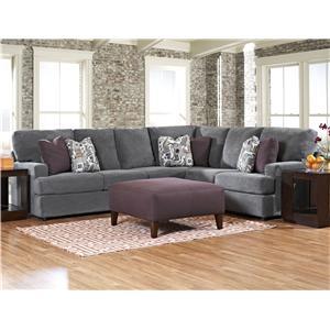Klaussner Maclin K91500 Contemporary 2 Piece Sectional Sofa