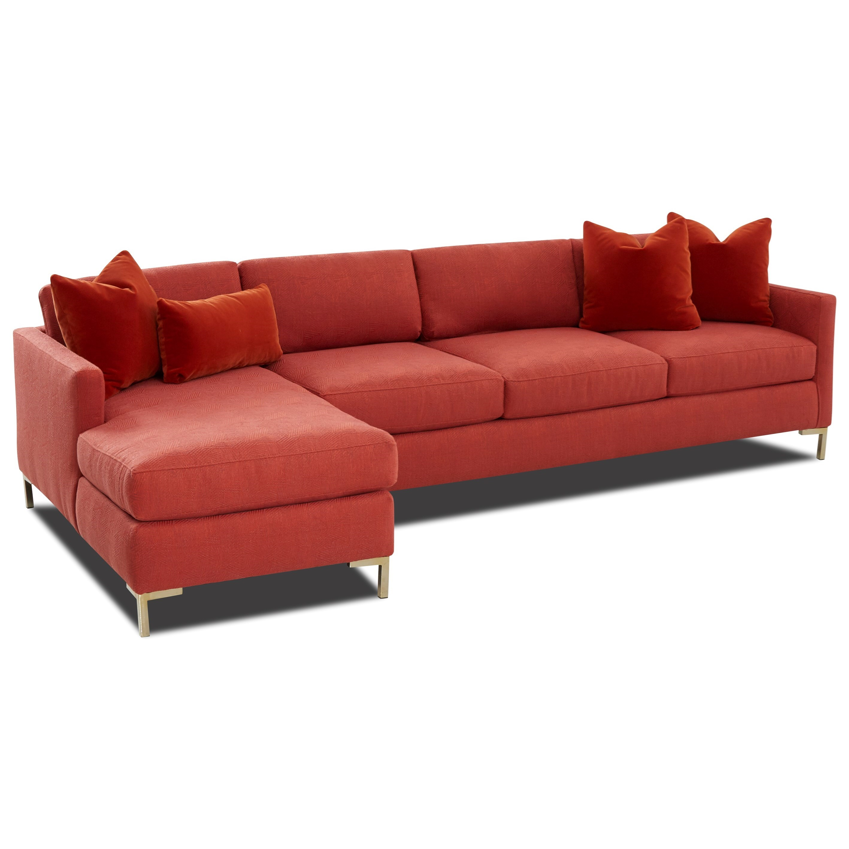 Marisol 4-Seat Sectional Sofa w/ RAF Chaise by Klaussner at Catalog Outlet