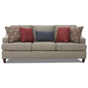 Transitional Sofa with T-Front Seat Cushions