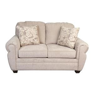 Classic Loveseat with Decorative Accent Pillows
