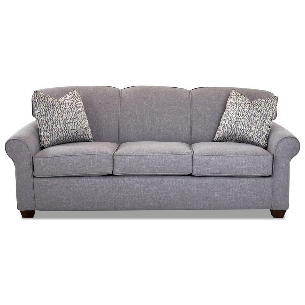 Mayhew Enso Memory Foam Queen Sleeper Sofa by Klaussner at Johnny Janosik