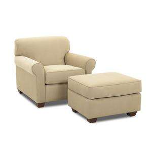 Klaussner Mayhew Chair and Ottoman
