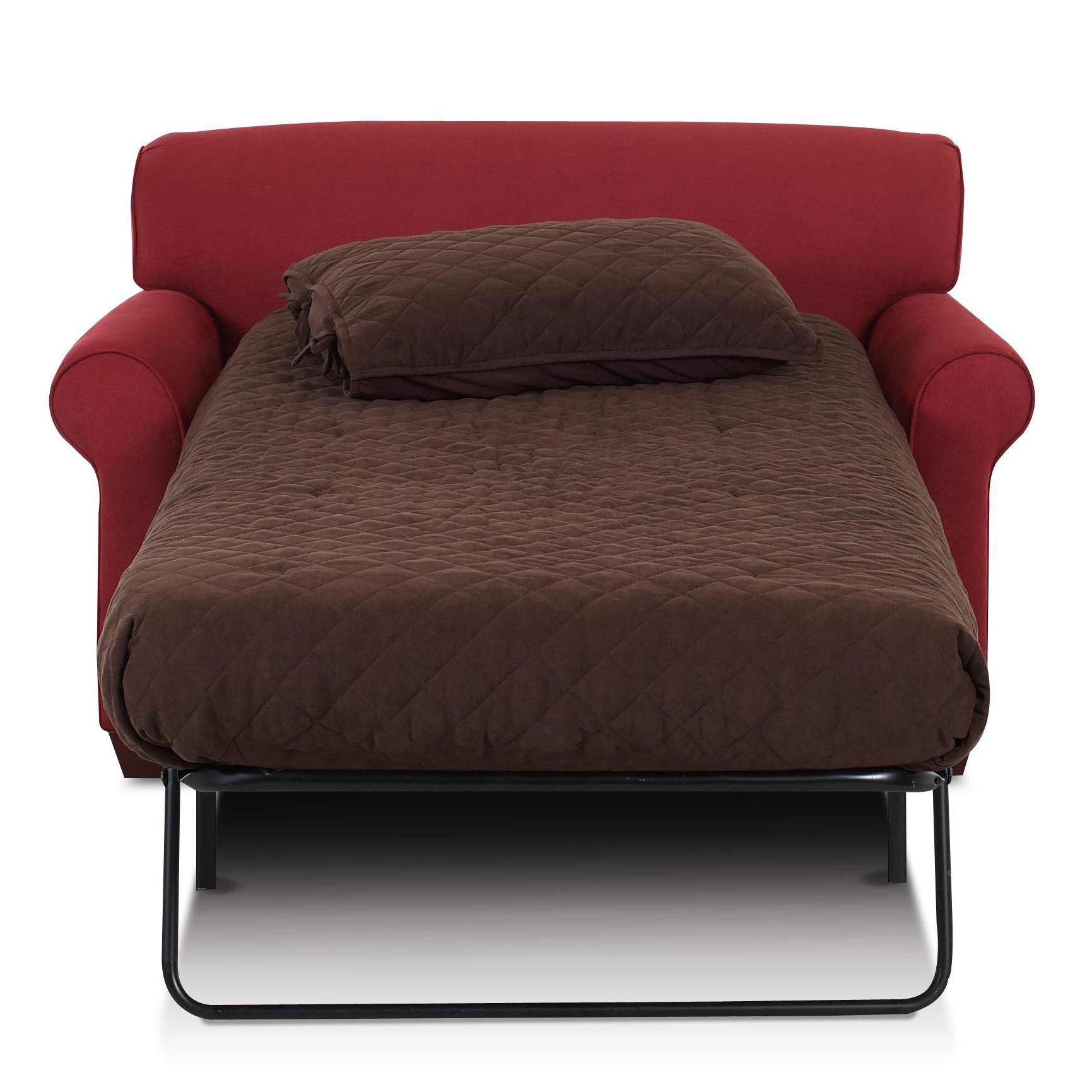 Mayhew Innerspring Chair Sleeper by Klaussner at Northeast Factory Direct