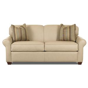 Innerspring Sleeper Sofa with Accent Pillows