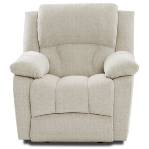 Casual Power Recliner with Extended Footrest and Power Headrest
