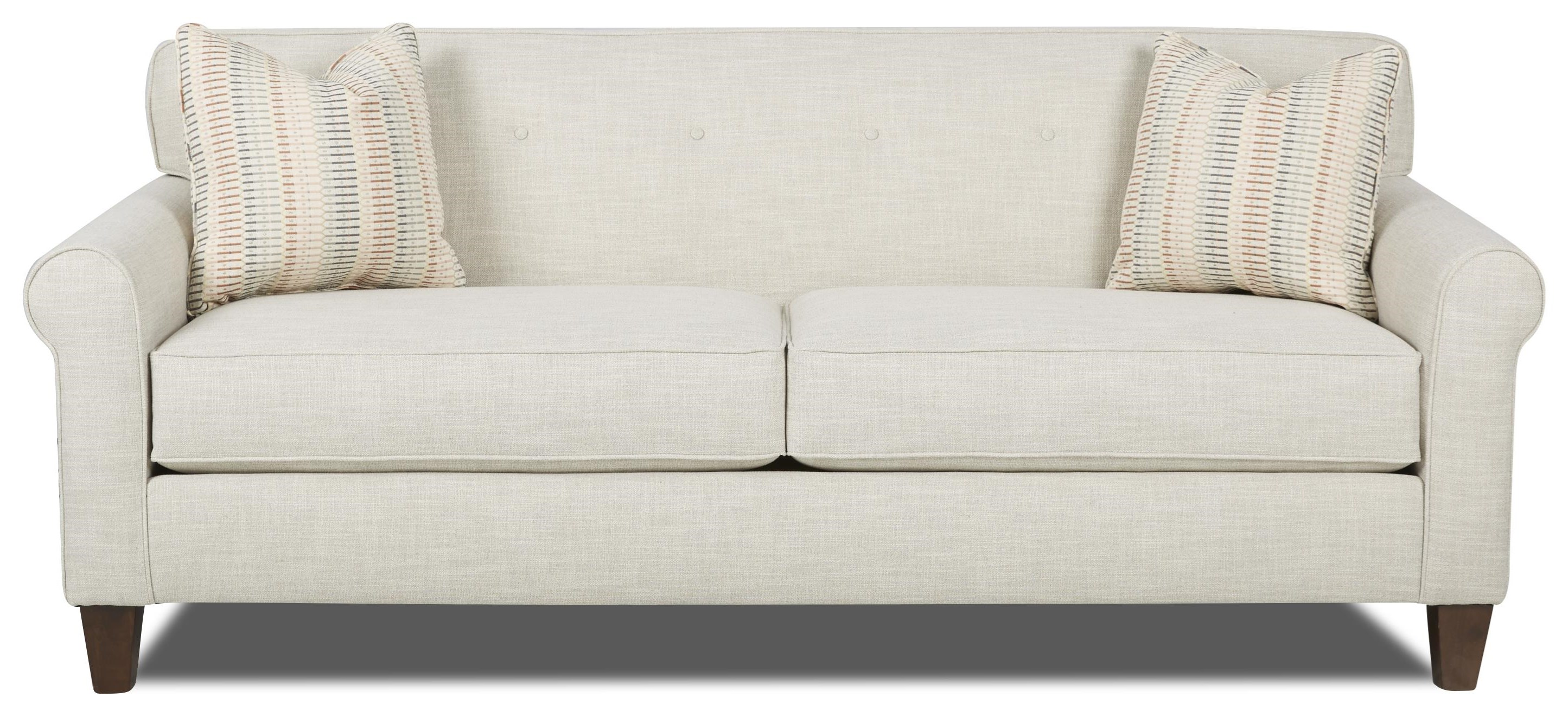Small Scale Sofa with Button Tuft Detail