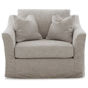 Slipcover Chair with Down Blend Cushions
