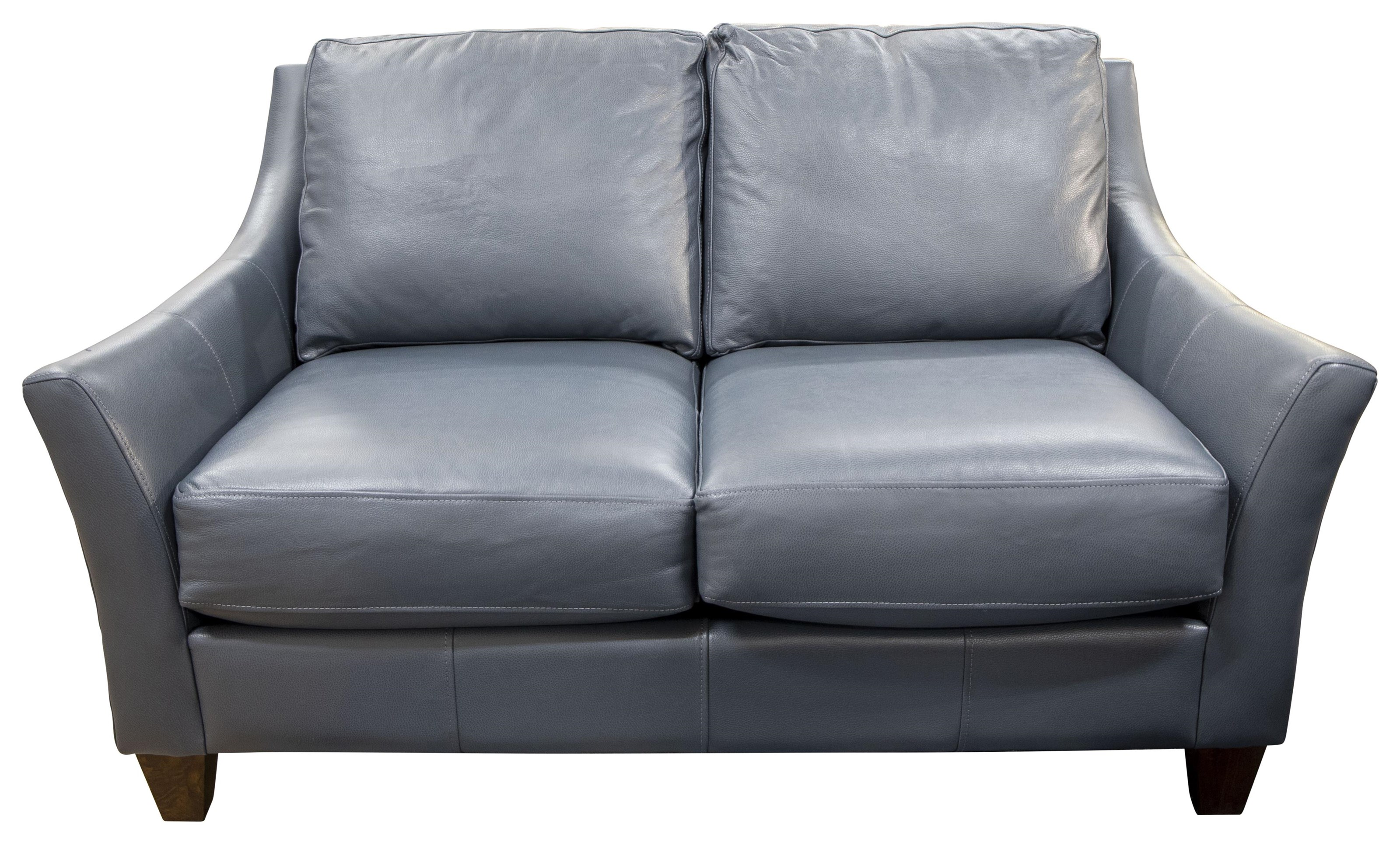 Miriam - Miriam  Leather Match Loveseat by Klaussner at Morris Home