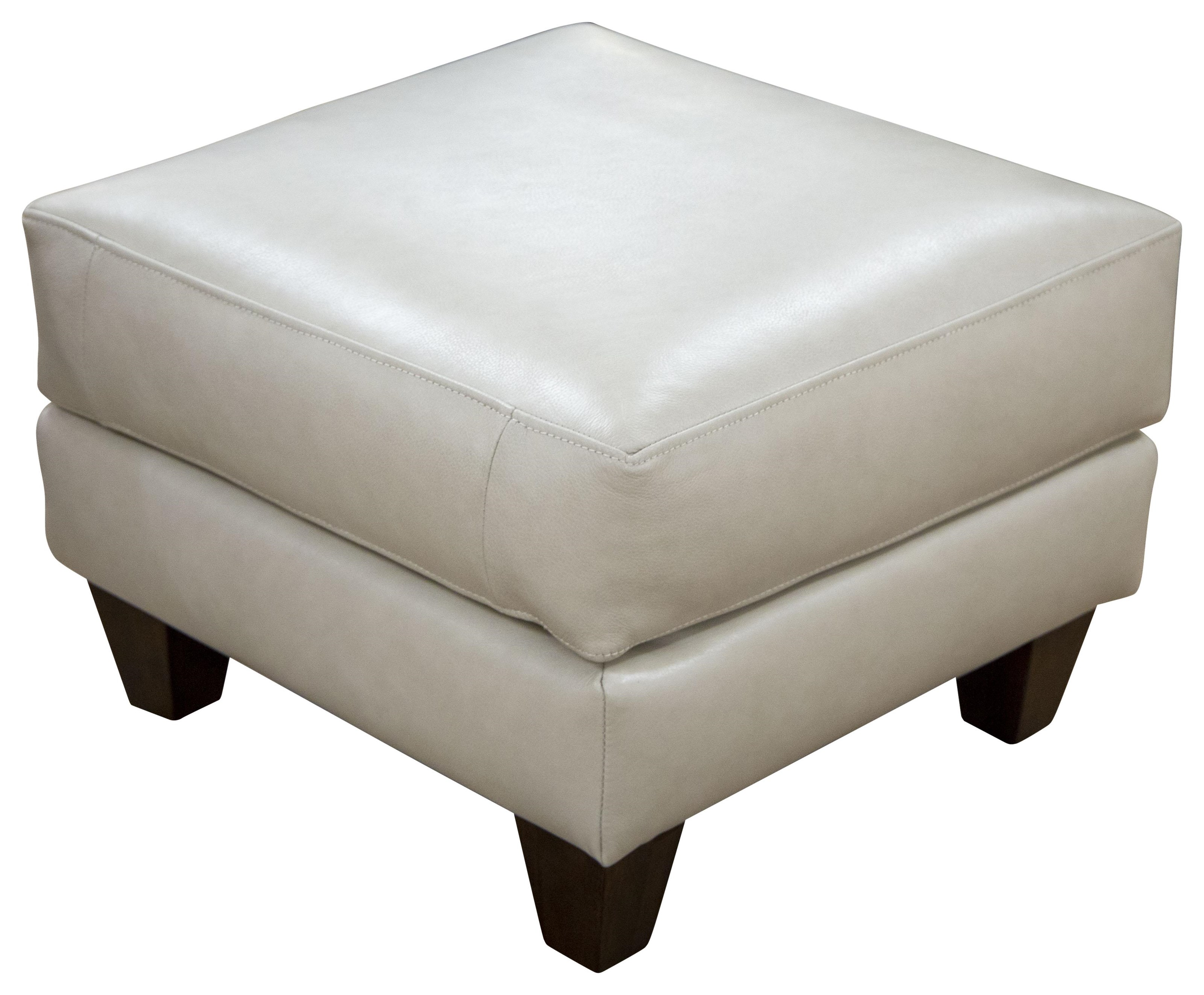 Miriam - Miriam Top Grain Leather Ottoman by Klaussner at Morris Home