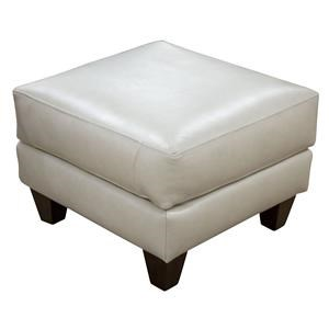 Miriam Top Grain Leather Ottoman