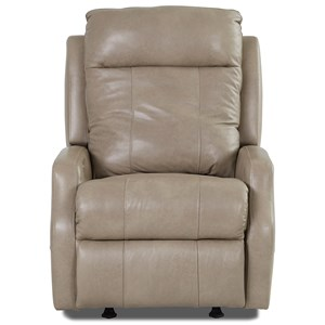 Contemporary Power Rocking Reclining Chair with Power Headrest