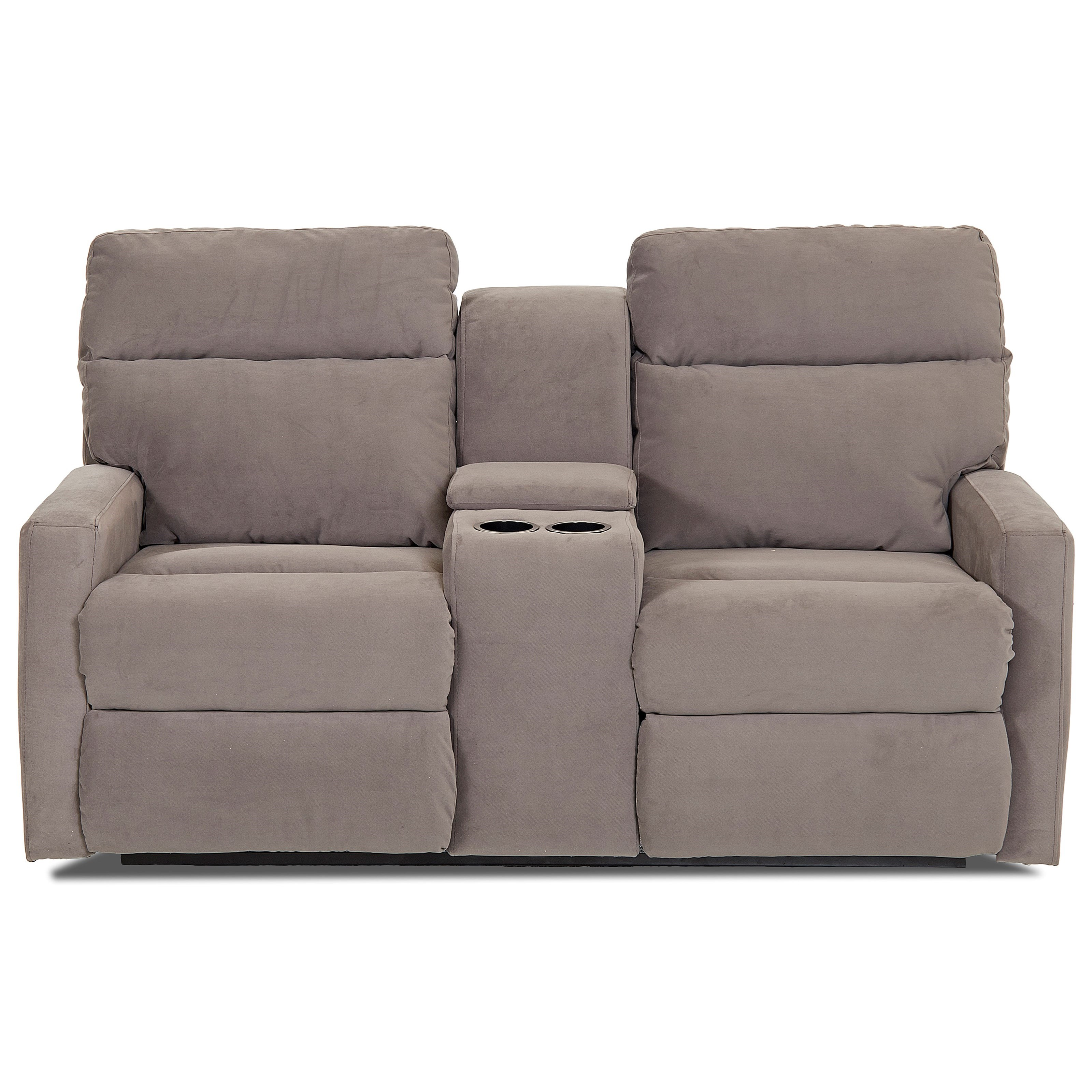 Daphne Power Console Reclining Loveseat by Klaussner at Northeast Factory Direct