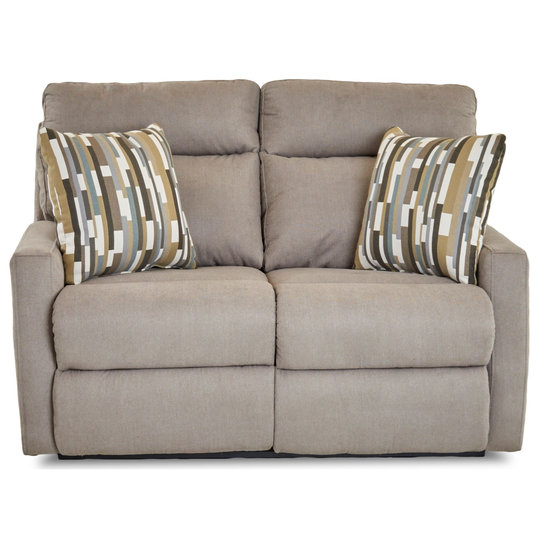 Daphne Power Reclining Loveseat w/ Pillows by Klaussner at Johnny Janosik