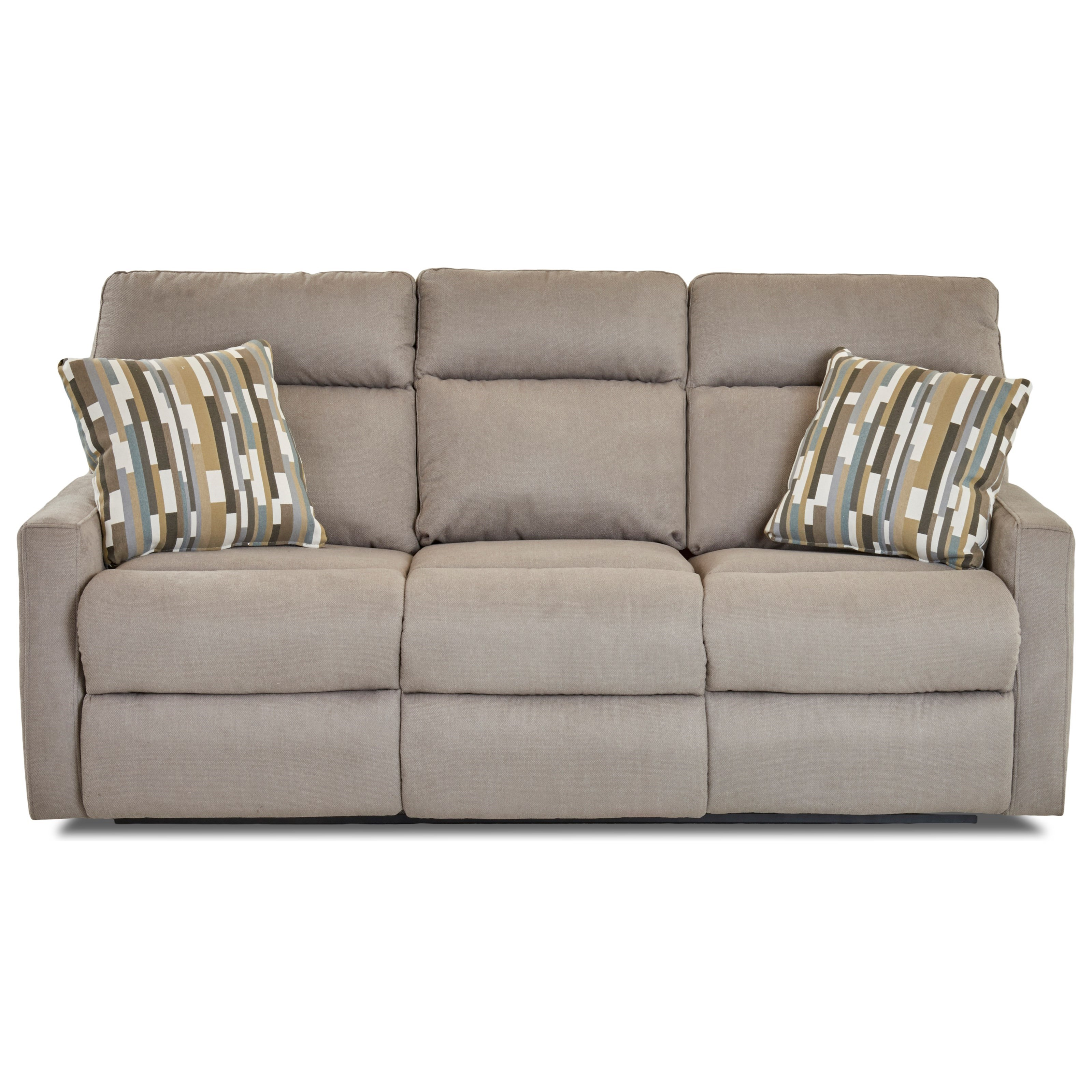 Daphne Reclining Sofa w/ Pillows by Klaussner at Johnny Janosik
