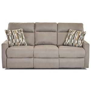 Reclining Sofa w/ Pillows