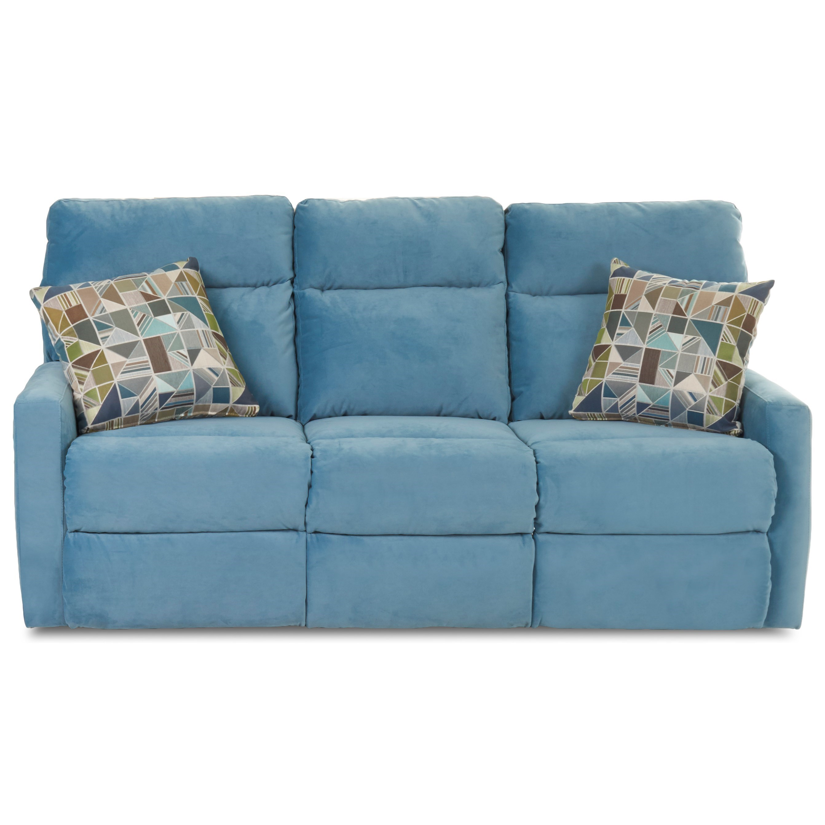 Daphne Reclining Sofa w/ Pillows by Klaussner at Northeast Factory Direct