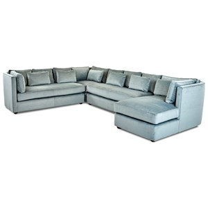 Contemporary Sectional with Chaise Lounge