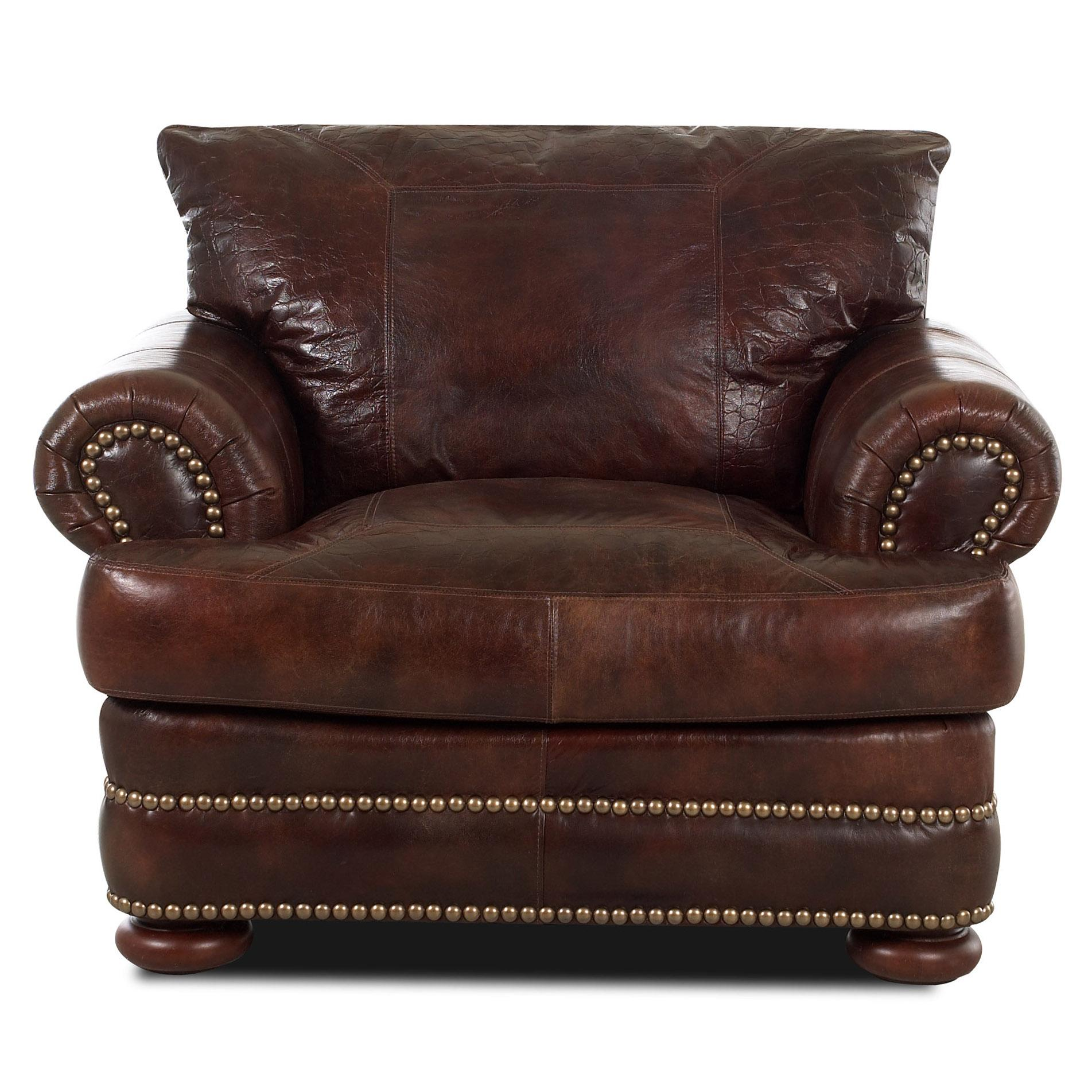 Montezuma Leather Chair by Klaussner at H.L. Stephens