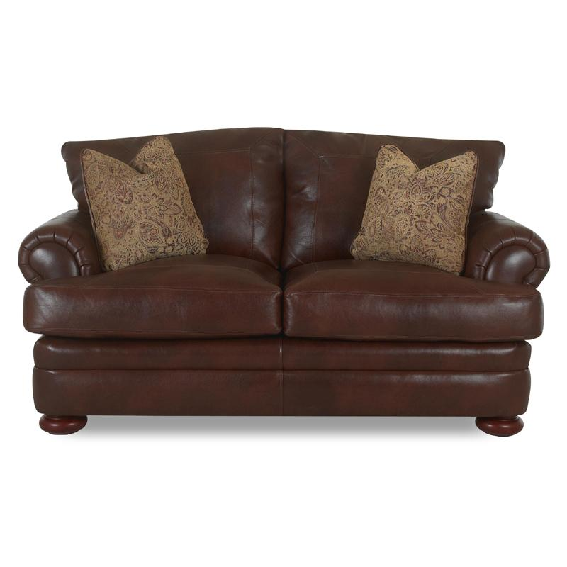 Montezuma Leather Loveseat by Klaussner at Northeast Factory Direct