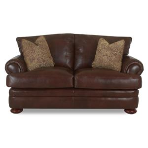 Klaussner Montezuma Leather Loveseat