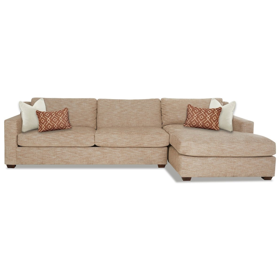 Novato 3-Seat Sectional Sofa w/ RAF Chaise by Klaussner at Northeast Factory Direct