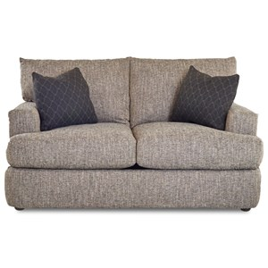 Contemporary Track Arm Loveseat