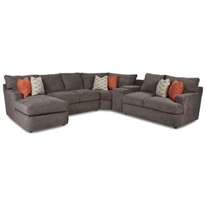 5-Seat Sectional Sofa w/Cupholders & LAF CHS